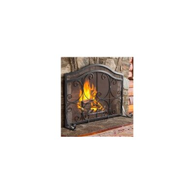 plow hearth small crest flat guard fireplace screen and tool set