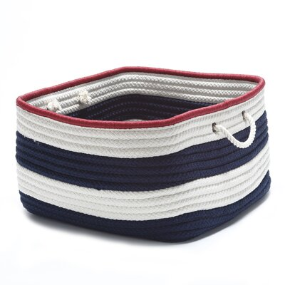 Nautical Stripe Rectangle Basket by Colonial Mills