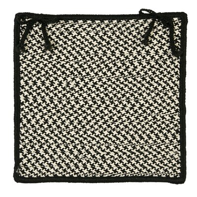 Outdoor Houndstooth Tweed Chair Pad (Set of 4) by Colonial Mills
