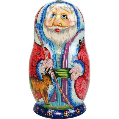 Russian Little Deer Doll with Ornaments by G Debrekht