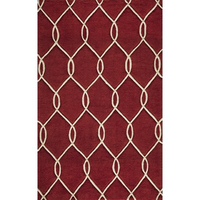 Momeni Bliss Red Tufted Area Rug
