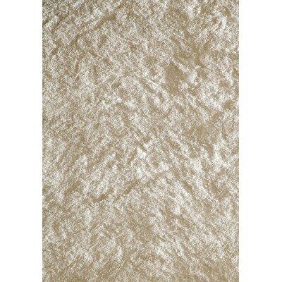 Luster Shag White Rug by Momeni