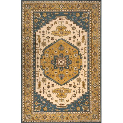 Persian Garden Teal Blue/Orange Area Rug by Momeni