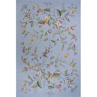 Spencer Blue Country/Floral Rug by Momeni