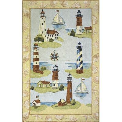 Coastal Assorted Lighthouse Novelty Rug by Momeni
