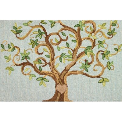 Love Tree Blue/Brown Area Rug by Homefires
