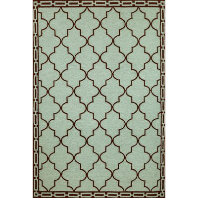 Trans-Ocean Rug Ravella Floor Tile Aqua Indoor/Outdoor Rug