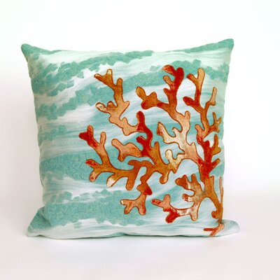 Visions III Coral Throw Pillow by Trans Ocean