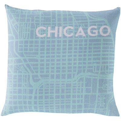 Surya Take me to Chicago Cotton Throw Pillow