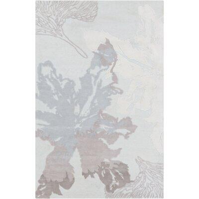 Mamba Gray Floral Rug by Surya