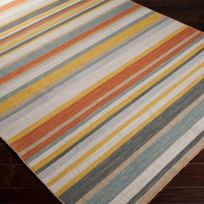 Surya Calvin Golden Yellow/Misty White Striped Area Rug