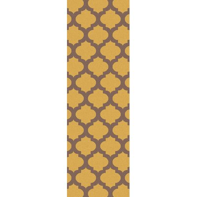 Frontier Brindle Gold/Yellow Geometric Area Rug by Surya