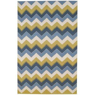 Irish Stitch Slate/Clay Outdoor Area Rug by Capel