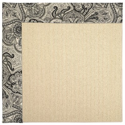 Zoe Beach Sisal Rectangle Machine Tufted Black Orchid and Beige Rugs by Capel