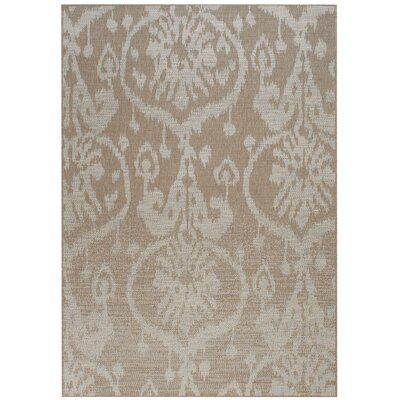 Capel Rugs Udorn Tan Sunburst Indoor/Outdoor Area Rug