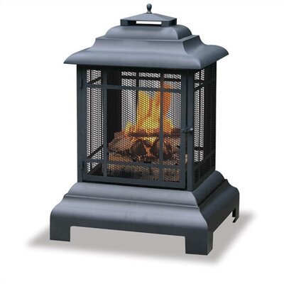 Uniflame Corporation Steel Wood Pagoda Fireplace