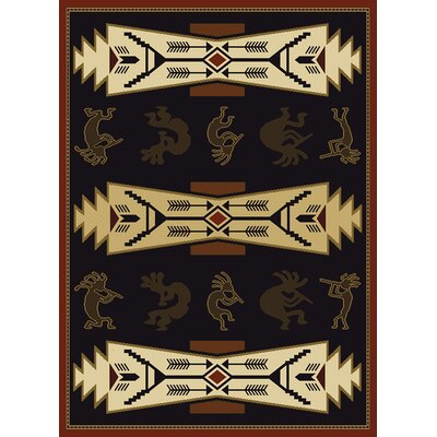 China Garden Trade Winds Black/Beige Rug by United Weavers of America