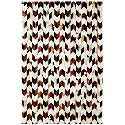 Leather Work Ivory/Brown Rug by Dynamic Rugs