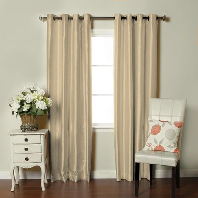 Fortune Faux Dupioni Silk Lined Single Curtain Panel Product Photo