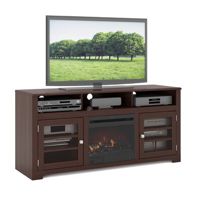 dCOR design West Lake TV Stand with Electric Fireplace