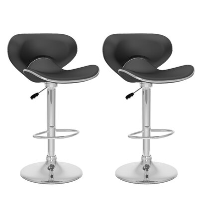 CorLiving Adjustable Height Swivel Bar Stool with Cushion by dCOR design