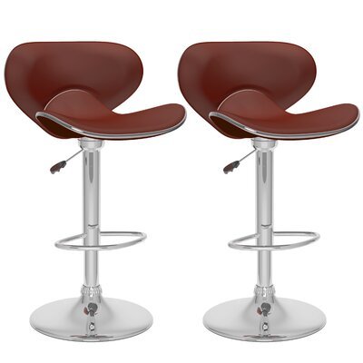 Adjustable Height Swivel Bar Stool with Cushion by dCOR design