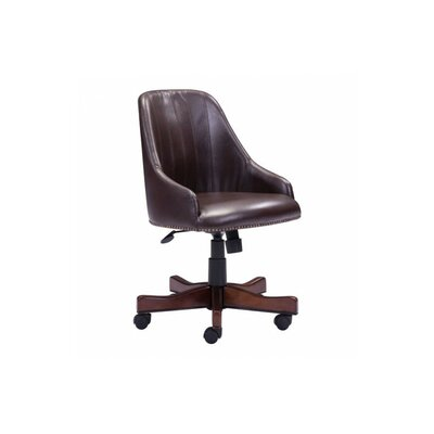 High-Back Leather Office Chair by dCOR design