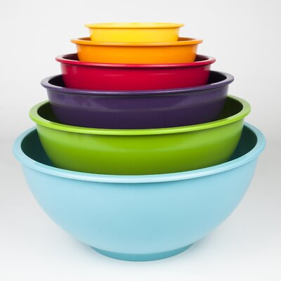6 Piece Nested Mixing Bowl Set by Sweet Home Collection