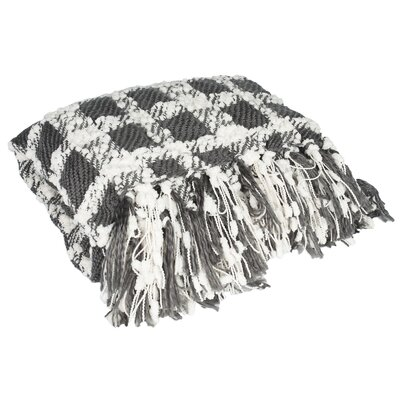 Elegant Check Pattern Knit Throw by Sweet Home Collection
