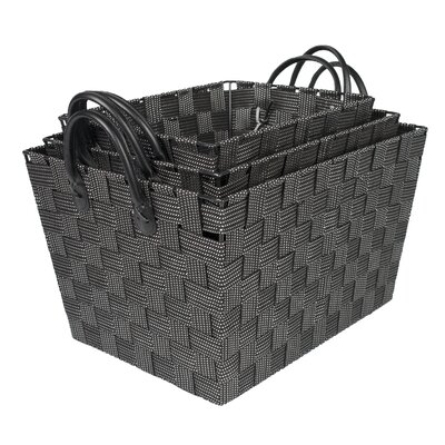 3 Piece Woven Storage Baskets with Handles by Sweet Home Collection