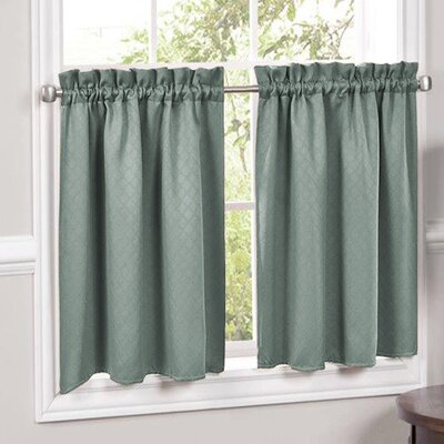 Facets Blackout Insulated Curtain Tier (Set of 2) Product Photo