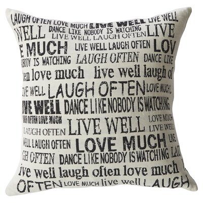 Laugh Often Throw Pillow by Mercury Row