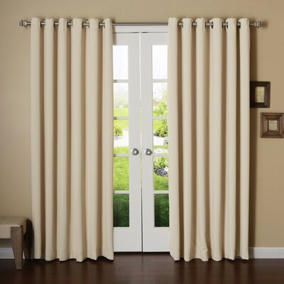 Extra Wide Width Thermal Insulated Grommet Top Blackout Curtain Panel Product Photo