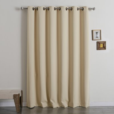 Wide Width Thermal Insulated Grommet Top Blackout Curtain Panel Product Photo