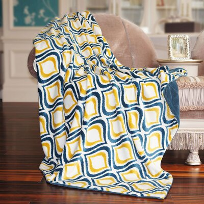 Mystique Flannel Throw Blanket by BNF Home