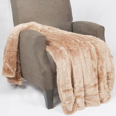 Oversized Double Sided Faux Fur Throw by BNF Home