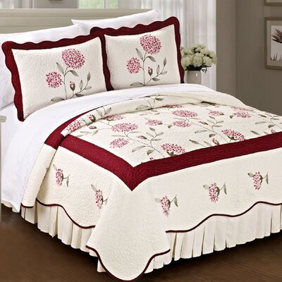 Sun Flowers 3 Piece Bedspread Set by BNF Home