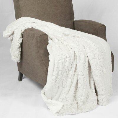 Batik Faux Fur Sherpa Throw Blanket by BNF Home