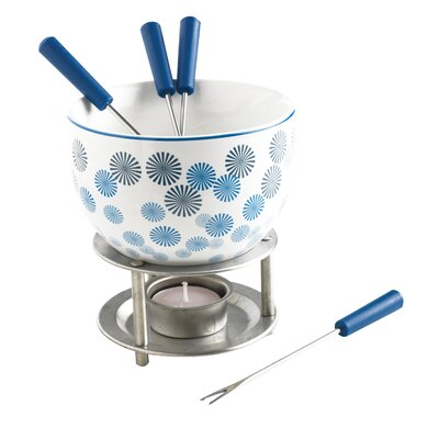 7 Piece Pompoms Chocolate Fondue Set by MASTRAD