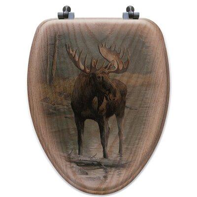 Wgi Gallery Quiet Water Moose Oak Elongated Toilet Seat