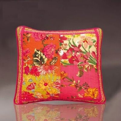 Bed of Roses Floral Patchwork Cushion Cover by DaDa Bedding