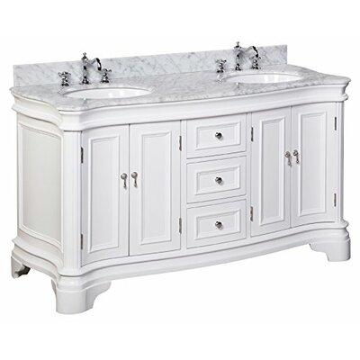 """Katherine 60"""" Double Bathroom Vanity Set Product Photo"""