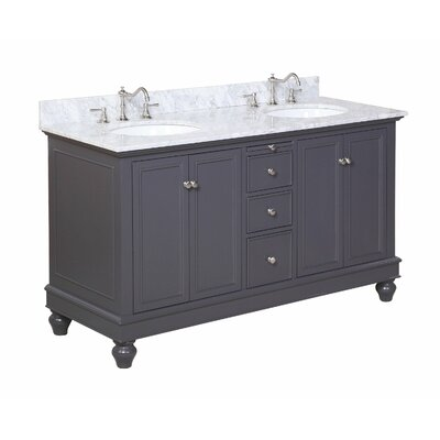 "Bella 60"" Double Bathroom Vanity Set Product Photo"