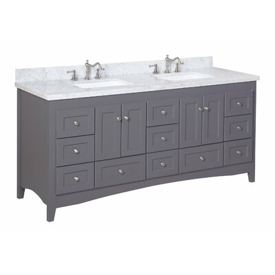"Abbey 72"" Double Bathroom Vanity Set Product Photo"