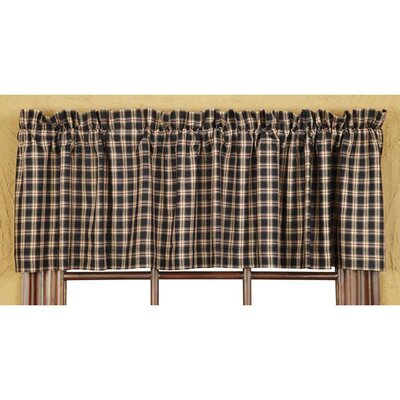 "Bingham Plaid Star Lined 72"" Curtain Valance Product Photo"