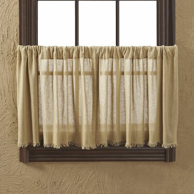 "Tobacco Fringed 36"" Tier Curtain (Set of 2) Product Photo"