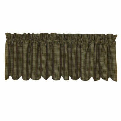 """Tea Cabin Plaid Scalloped Lined 72"""" Curtain Valance Product Photo"""