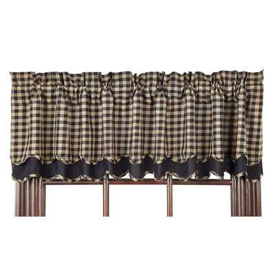 Check Scalloped Layered Lined Curtain Valance Product Photo