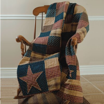 Patriotic Patch Cotton Throw by VHC Brands