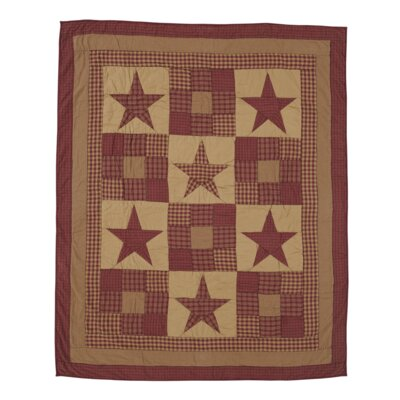 Ninepatch Star Quilted Cotton Throw by VHC Brands